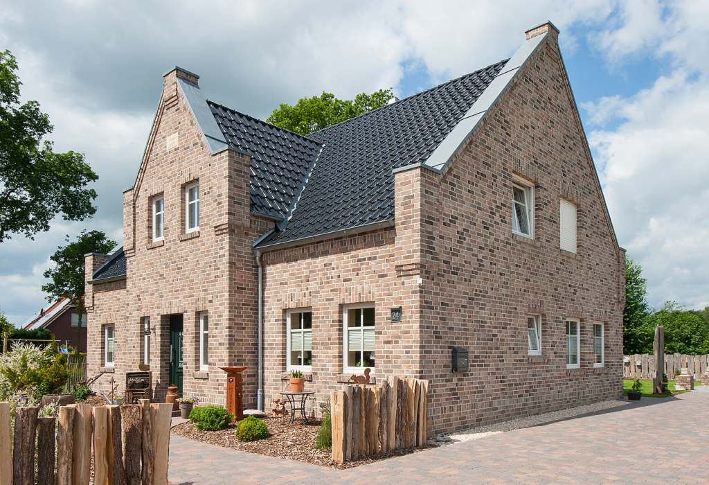Brick facade - traditional detached house